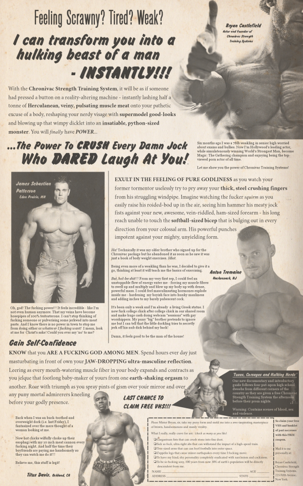 Comic Book Muscle Ad